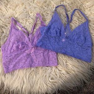 Victoria's Secret lace bralettes